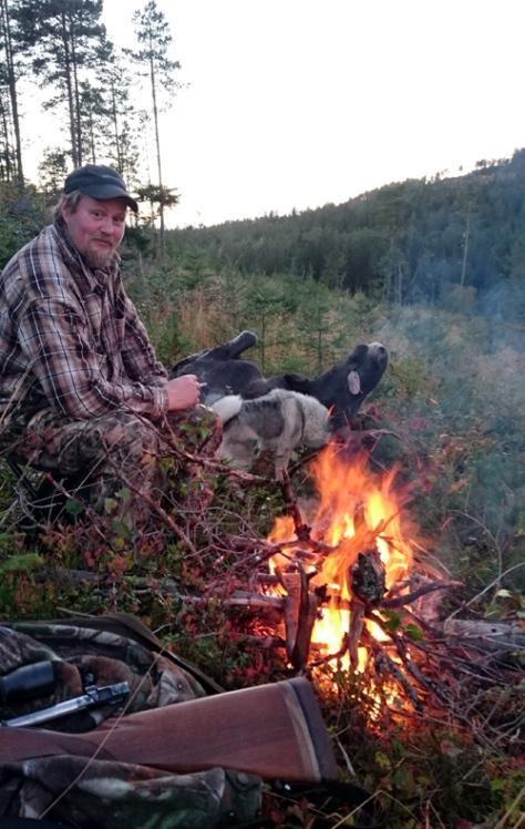 Bålkos etter vellykket elgfall