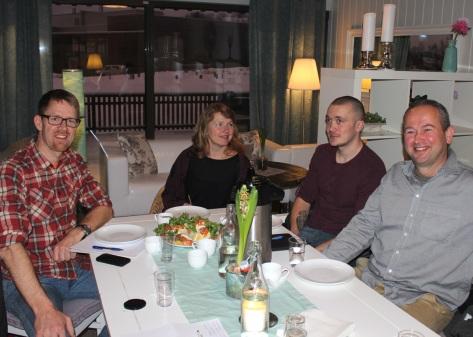 Fagrådstyre SNF Frosta 2016. Fra v: Gustav Myraune (Rågo) - leder, Kirsten Fossli (Fossli as), Stein Ola Stene (Orsand Camping/Stene Tømrerservice) og Jan Lutdal (QBE)