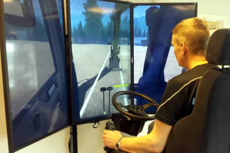 I simulatoren til Frent kan du forsøke å kjøre grøftemaskin